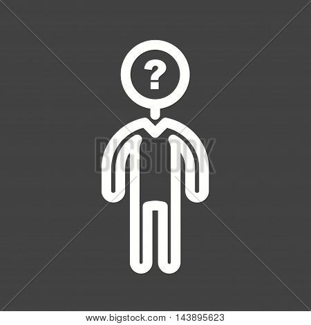 Man, dark, unrecognizable icon vector image. Can also be used for people. Suitable for use on web apps, mobile apps and print media.