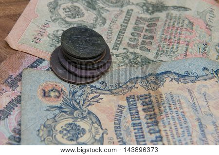 Old coins and money for 16th to 19th century. Imperial Russia