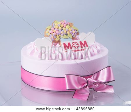 Cake Or Birthday Cake On A Background.