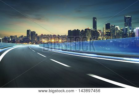 moving forward motion blur background,night scene .