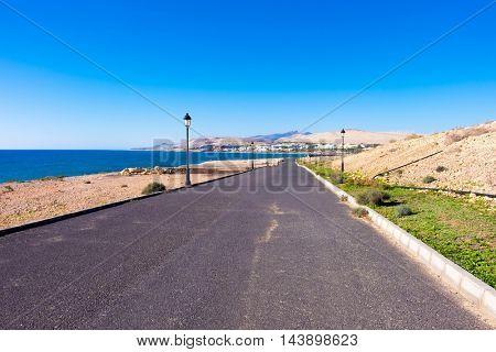 road near sea
