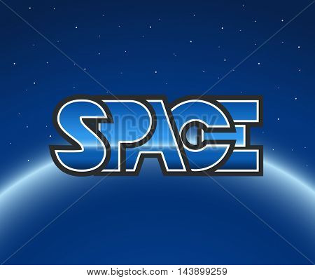 Logo in space. Vector illustration