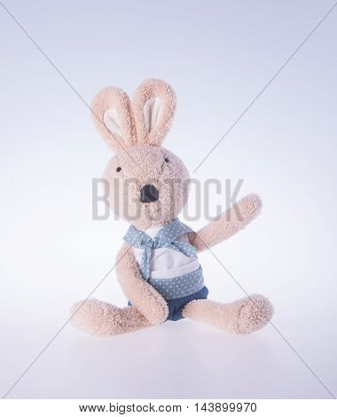 Rabbit Or Bunny Toy On A Background.