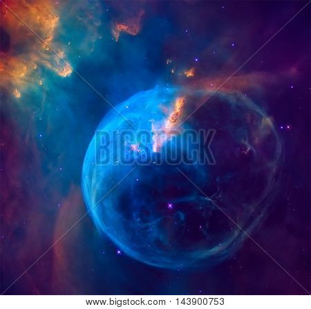 The Bubble Nebula In The Constellation Cassiopeia.