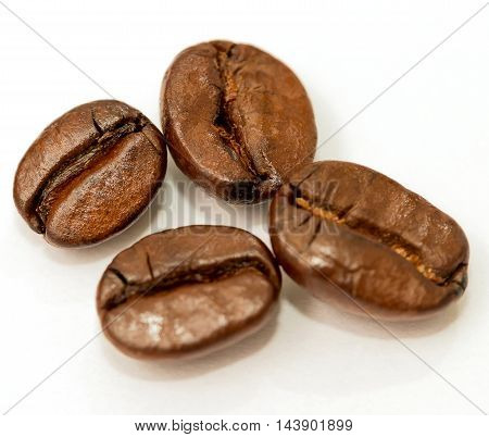 Roasted Coffee Beans Means Hot Drink And Beverage