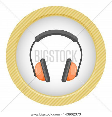 Vector Headphones cartoon Icon. Vector colorful illustration