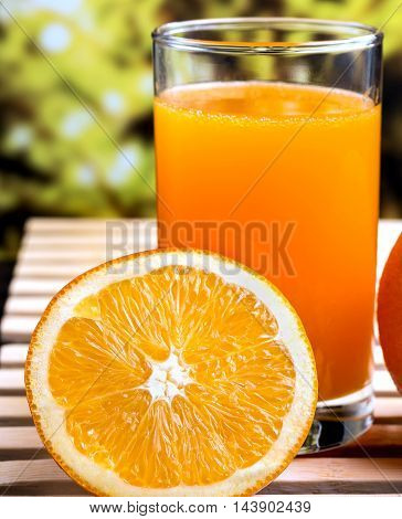 Healthy Orange Juice Represents Tropical Fruit And Oranges