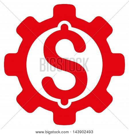 Payment Options icon. Vector style is flat iconic symbol with rounded angles, red color, white background.