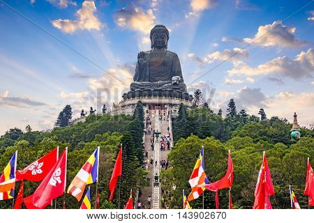 HONG KONG, CHINA - OCTOBER 15, 2012: Tthe Big Buddha of Lantau Island in Hong Kong, China.
