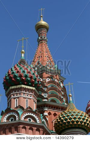 Saint Basil cathedral in Moscow Russia