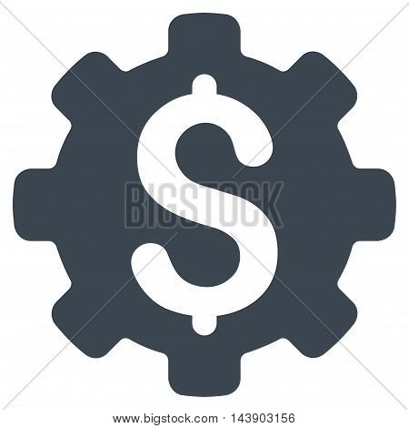 Industrial Capital icon. Vector style is flat iconic symbol with rounded angles, smooth blue color, white background.