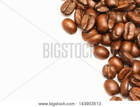 Coffee Beans Represents Blank Space And Break