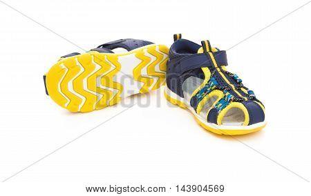 trendy sandal for boy on white background
