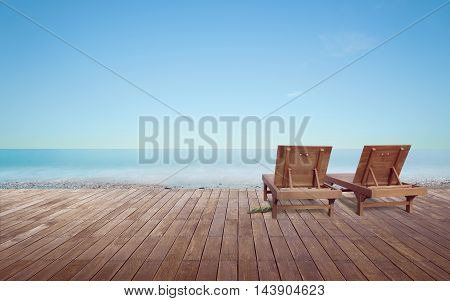 Beach lounge - Sundeck on Sea view for vacation