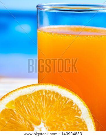 Healthy Orange Drink Indicates Freshly Squeezed Juice And Citrus