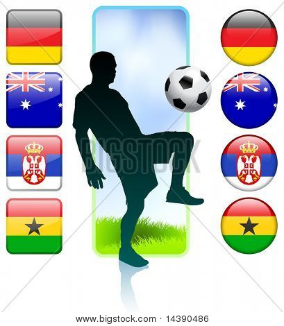 Soccer/Football Group D Original Vector Illustration