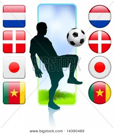 Soccer/Football Group E Original Vector Illustration