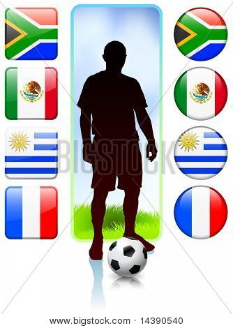 Soccer/Football Group A Original Vector Illustration