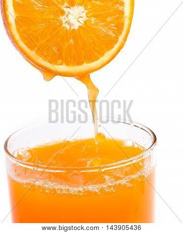 Healthy Orange Drink Represents Freshly Squeezed Juice And Citrus