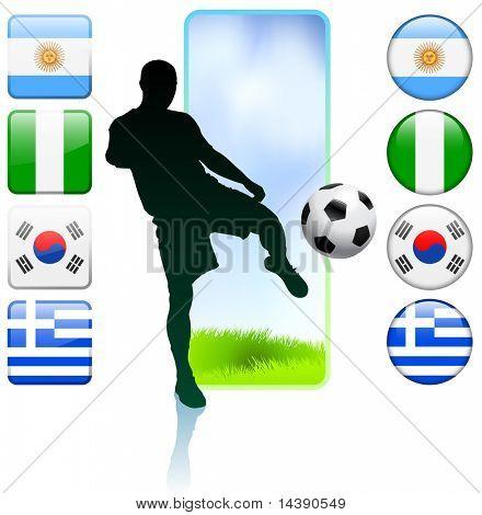 Soccer/Football Group B Original Vector Illustration