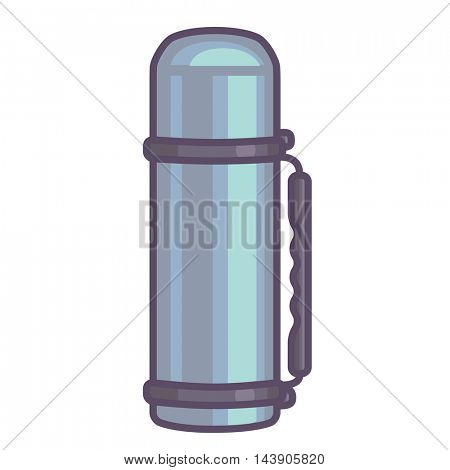 Thermos isolated on white background. Flat Vector illustration