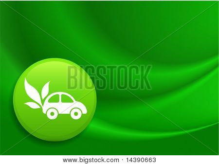 Car Icon on Internet Button Original Vector Illustration
