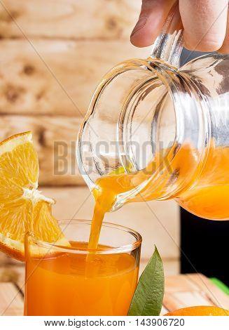 Orange Juice Drink Represents Liquid Fruity And Natural