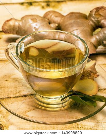 Refreshing Ginger Tea Means Drink Refreshed And Beverage