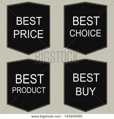 Set of vector labels. Vector sales tages.