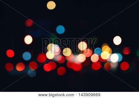 Abstrack bokeh lights on a black background
