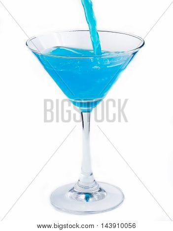 Blue Cocktail Indicates Vodka Party And Celebration