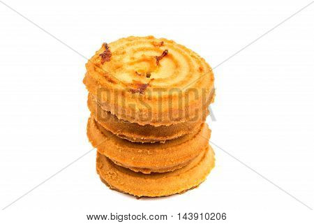 butter cookies isolated on a white background