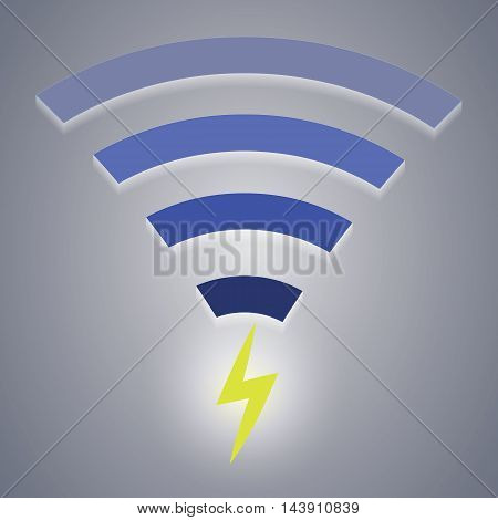 Icon of wireless charging devices via wi-fi. Vector illustration. EPS 10.