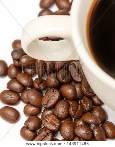 Coffee Beans Represents Hot Drink And Brown