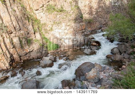 Kazakhstan the Tien Shan mountains. Trans-Ili Alatau. High plateau Assy. mountain river in the mountains high mountains rugged mountains range of mountains