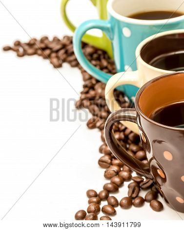 Fresh Coffee Beans Indicates Hot Drink And Copy-space