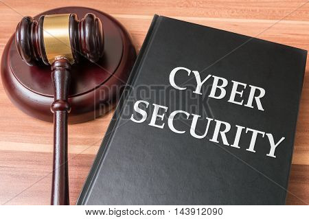 Book With Cyber Security Laws. Justice And Legislation Concept.