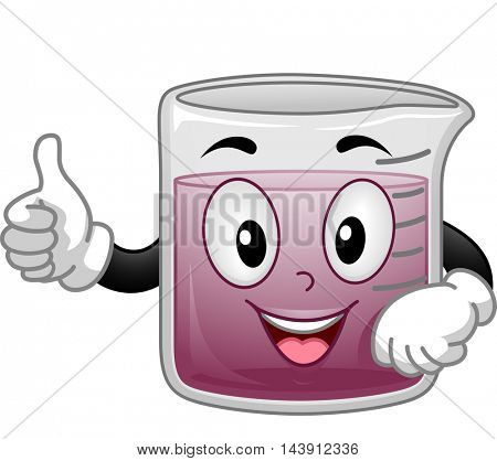 Mascot Illustration of a Beaker Giving a Thumbs Up