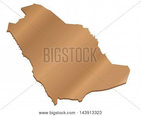 Vector 3D Pearl Map of Saudi Arabia