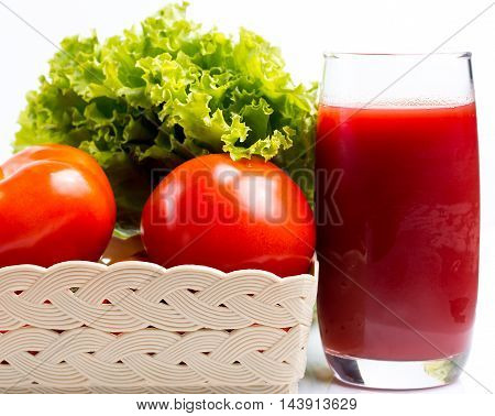 Tomato And Juice Means Refresh Thirsty And Refreshment
