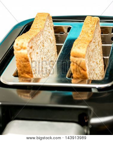 Bread Toaster Shows Meal Time And Break