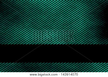 Illustration of a cyan smoky background with banner and diagonal stripes