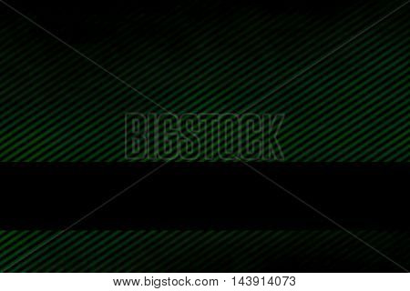 Illustration of a dark green smoky background with banner and diagonal stripes