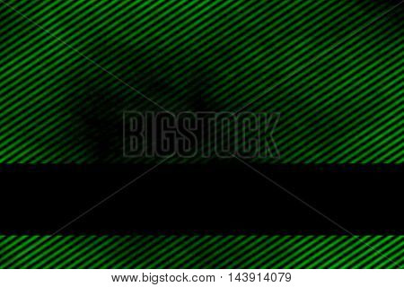 Illustration of a green smoky background with banner and diagonal stripes