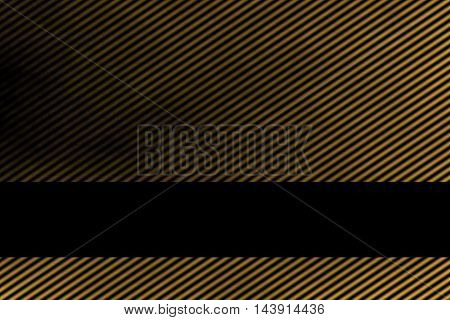 Illustration of a golden smoky background with banner and diagonal stripes