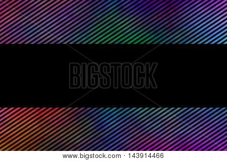 Illustration of a multicolor frame with diagonal stripes