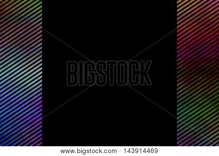 Illustration of a multicolor smoky side frame with diagonal stripes