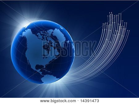 Globe on Eclipse Background Original Vector Illustration