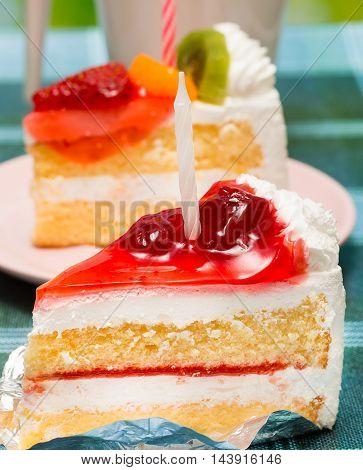 Birthday Cream Cakes Represents Berries Delicious And Berry