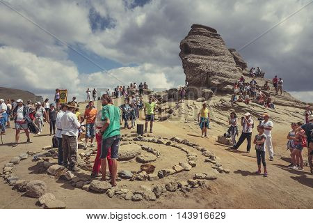 Spiritual Ritual At Sphinx, Bucegi Mountains, Romania